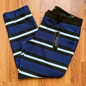 Express Editor Striped Dress Pants